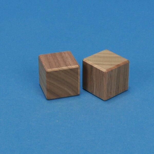 walnoot kubus blokken 3 cm