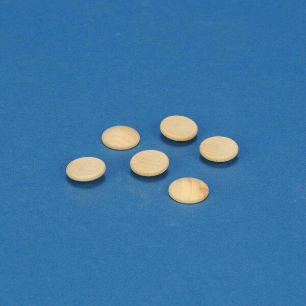 100 Houten knopen beuk Ø 20mm