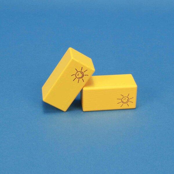 houten blokken SMILE geel 6 x 3 x 3 cm