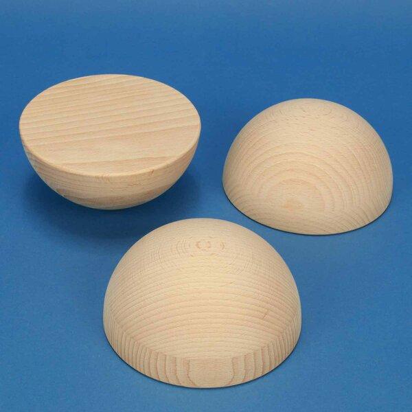 Halve houten ballen beuk Ø 4 inches