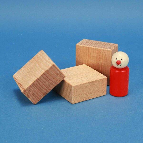 fröbel houten blokken 6 x 6 x 3 cm