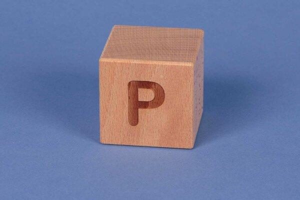 Houten naam blokken P positief