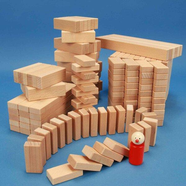 Set van 300 houten blokken van de serie 3 x 1,5 cm