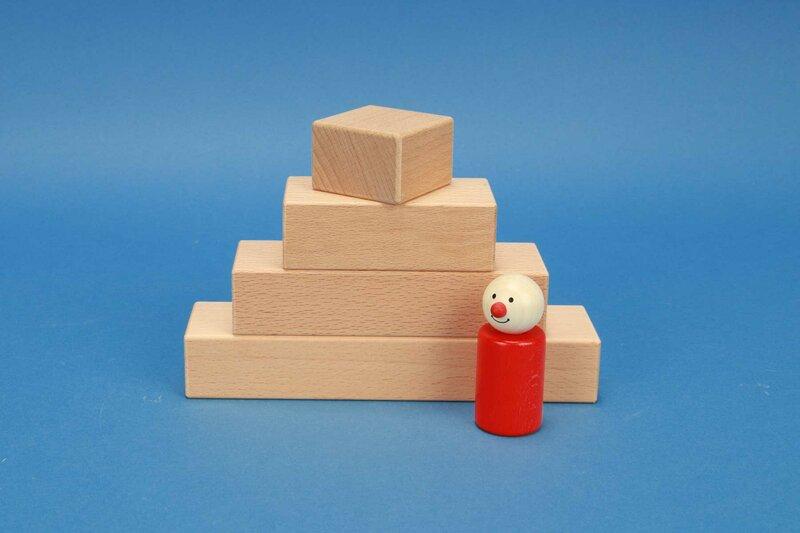houten blokken 4,5 x 3 cm
