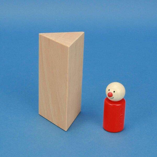 houten columns driehoekig 6 x 6 x 12 cm gelijkwaardig