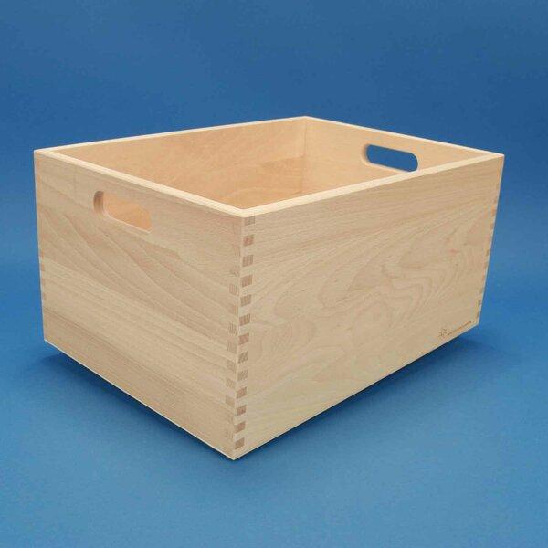 Beukenhouten kist groot zonder bouwblokken