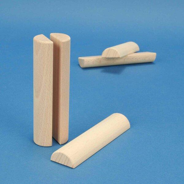 houten columns half Ø 3 x 12 cm