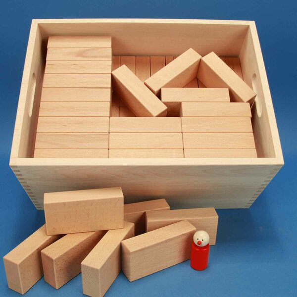 Set houten blokken Fröbel-Special 85 beukenkist + lasermarkering