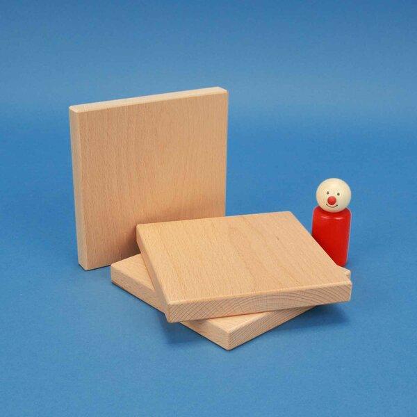 houten bouwblokken 12 x 12 x 1,5 cm
