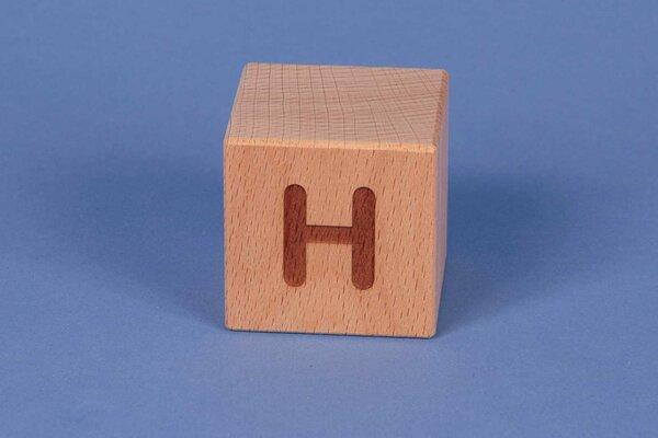 Houten naam blokken H positief