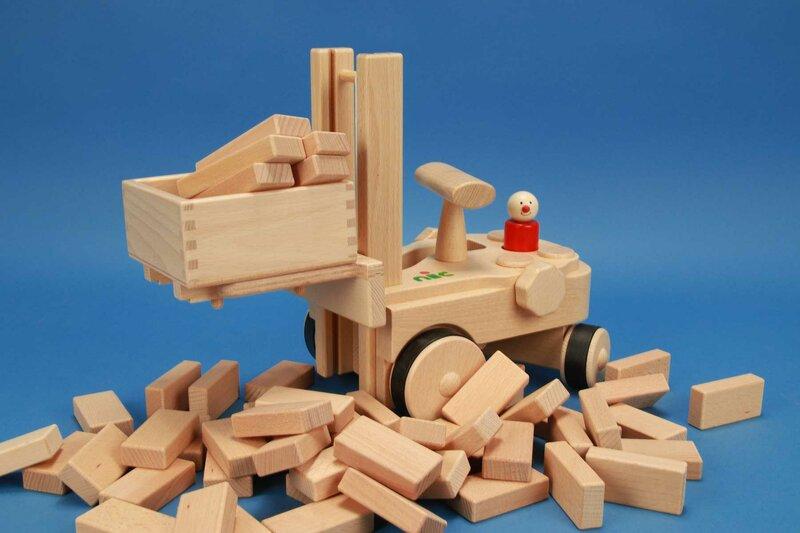 NIC Creamobil + houten blokken