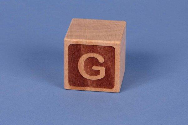 Houten naam blokken G negatief