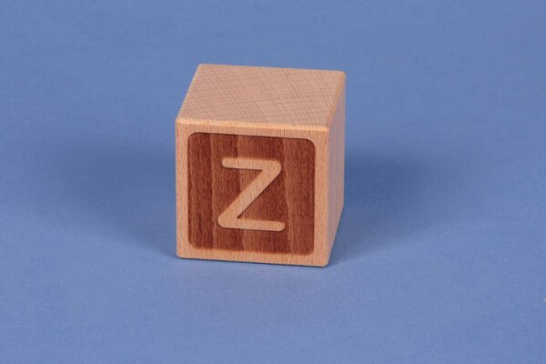 Houten naam blokken Z negatief
