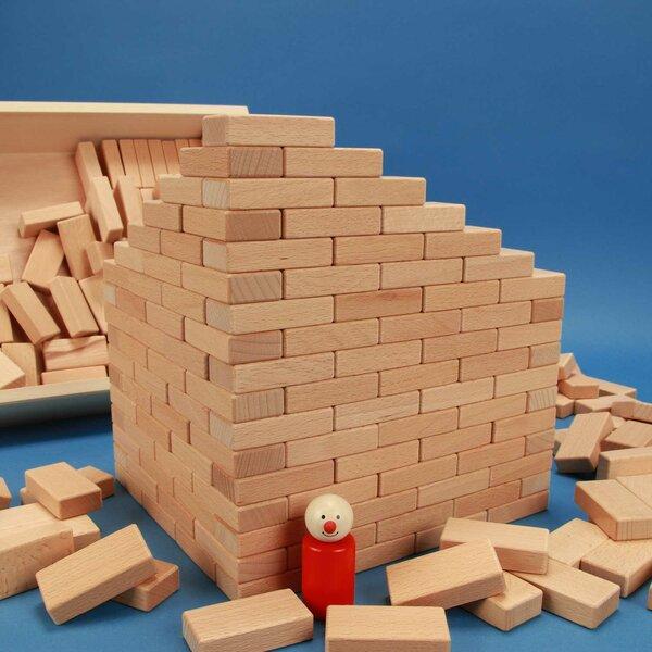 234 Domino-Set in platte beukenhout box met lasermarkering