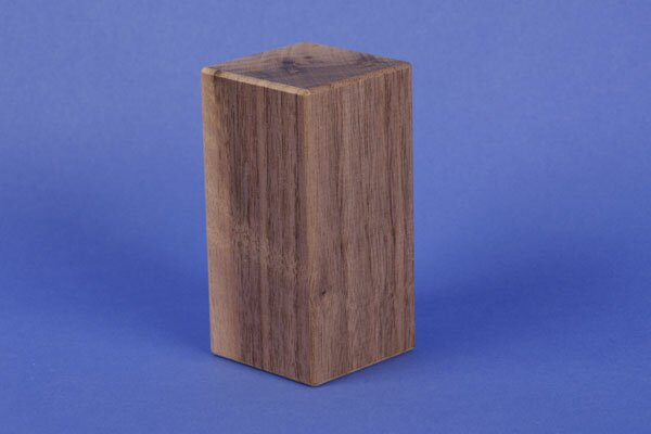 walnoot houten blokken 9 x 4,5 x 4,5 cm